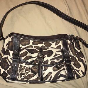 Leopard print small shoulder purse